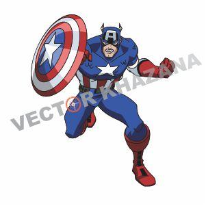 Avengers Captain America Vector