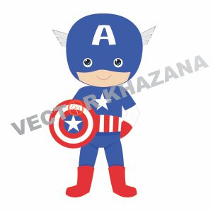 Captain America Chibi Vector