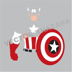 Captain America Character Vector
