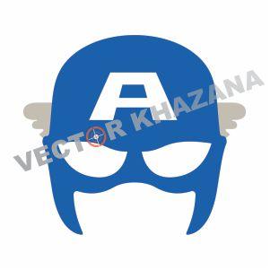 Captain America Mask Vector
