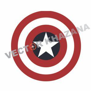 Captain America Shield Logo Vector