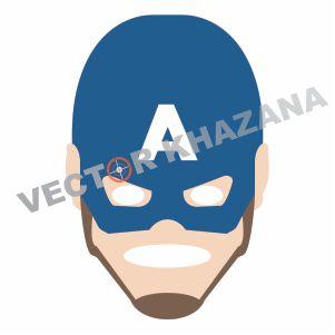Captain America Face Vector