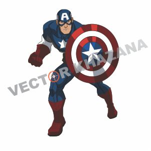 Superhero Captain America Vector