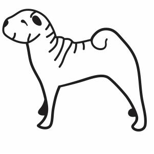 Dog Outline Svg