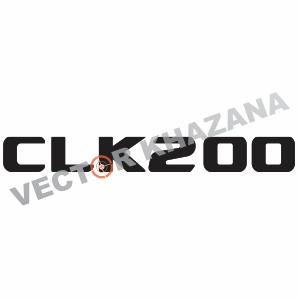 Mercedes CLK200 Logo Svg