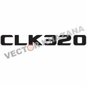 Mercedes CLK320 Logo Vector