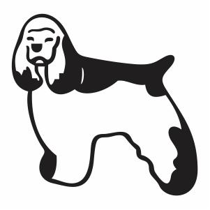 Cocker Spaniel Dog Svg