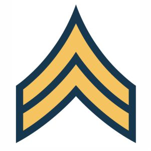 Army Corporal Cpl rank svg
