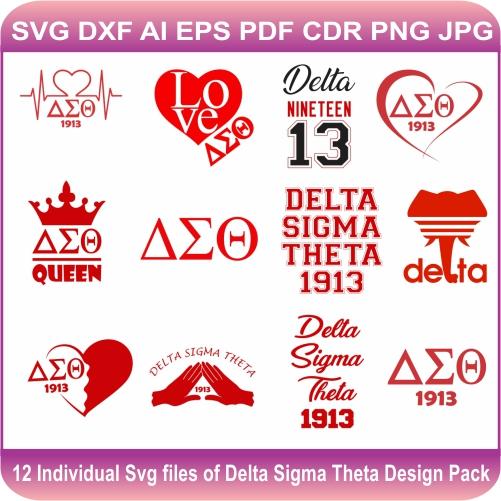 Delta Sigma Theta Pack Svg
