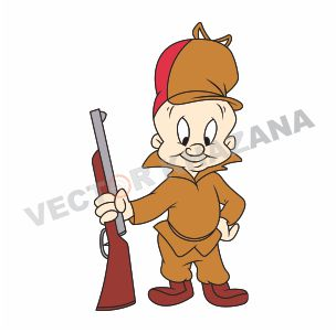 Elmer Fudd Hunter Logo Vector