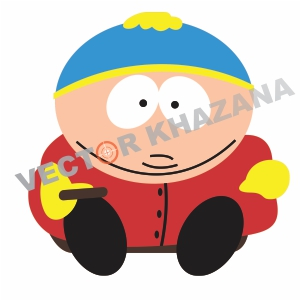 Eric Cartman Cute Logo Vector