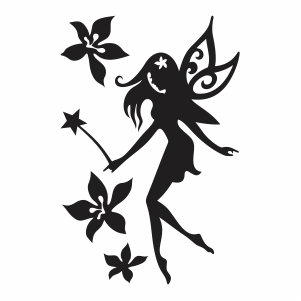 Fairy With Wand Vector