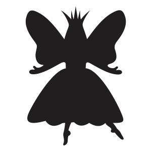 fairy stencil svg cut