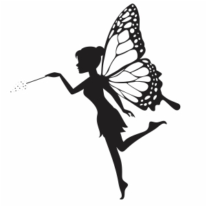 beautifull fairy with stick svg