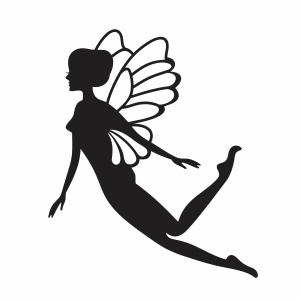 flying fairy svg cut
