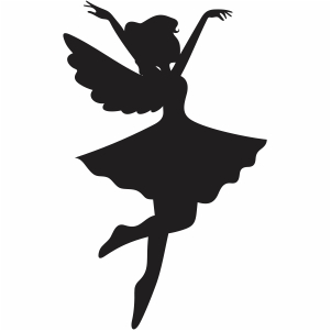 dancing fairy svg cut