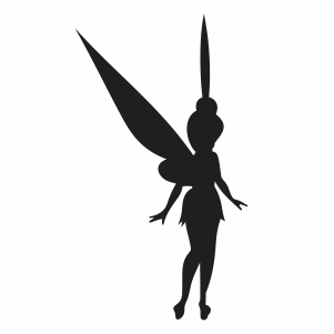 disney tinkerbell silhouette svg cut