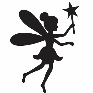 fairy with magic stick svg cut