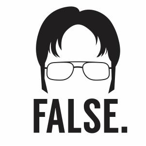 Dwight Schrute False Svg