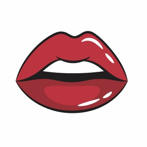 Female Glossy Lips svg cut