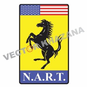 N.A.R.T Ferrari Logo Vector