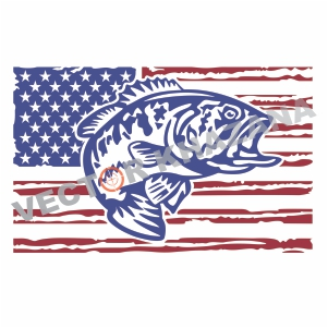 Free US Fish Flag Svg