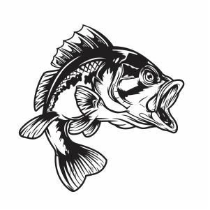 Download Bass Fishing Svg Jumping Fish Svg Cut File Download Jpg Png Svg Cdr Ai Pdf Eps Dxf Format
