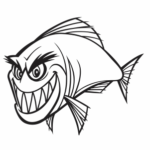 Download Piranha Fish Vector Cartoon Piranha Fish Vector Image Svg Psd Png Eps Ai Format Vector Graphic Arts Downloads