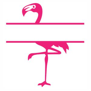 Flamingo Monogram pink svg cut
