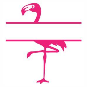 Flamingo Monogram Pink vector