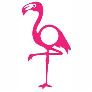 Bird Flamingo Monogram vector