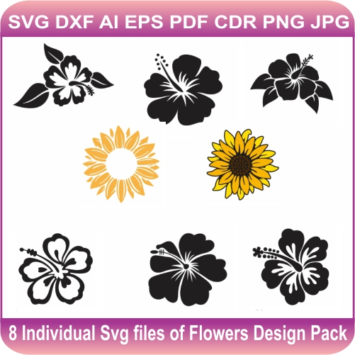 Flowers Pack Svg