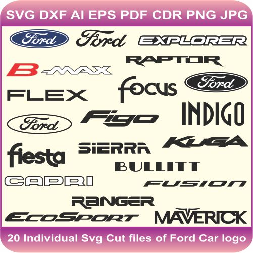 Ford Car Pack Logos Svg Cut Files