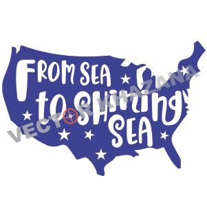 From Sea To Shining Sea vector file