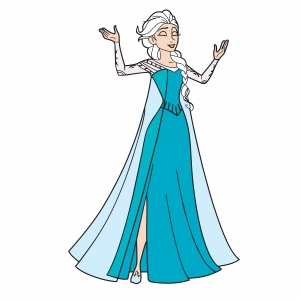 Elsa Queen Svg