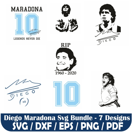 Diego Maradona Svg Bundle