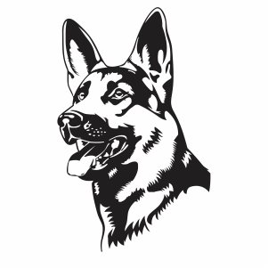 German Sheford Dog Png