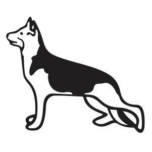 German Sherperd Dog svg