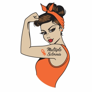 girl power multiple sclerosis vector file