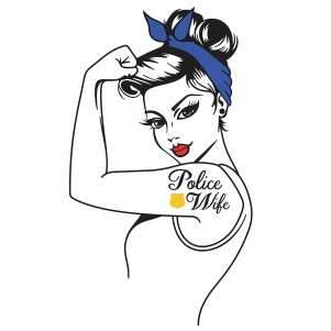 girl power police wife vector file