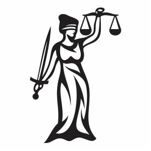 Goddess of Justice Svg