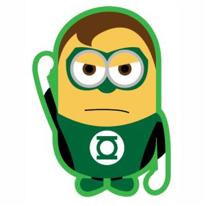 Green Lantern Minion svg