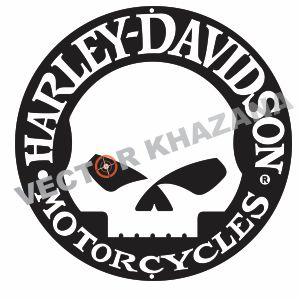 Harley Davidson Skull circle Logo Svg