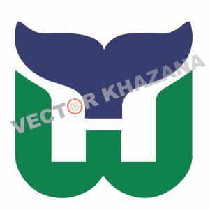 Hartford Whalers Logo Vector