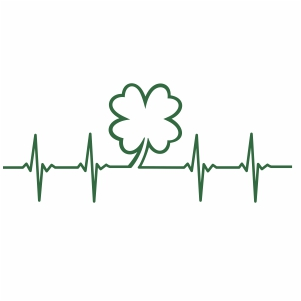 heartbeat Four Leaf Clover svg file
