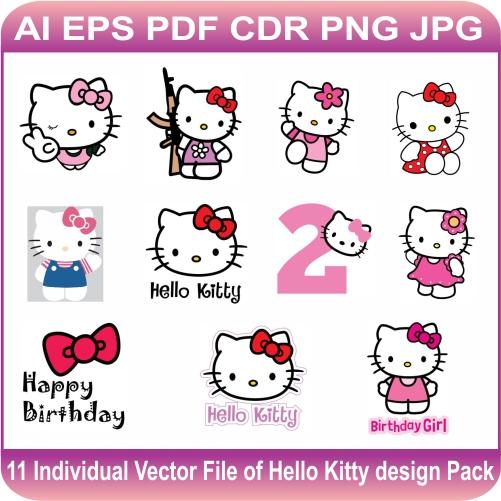 Hello Kitty Vector designs