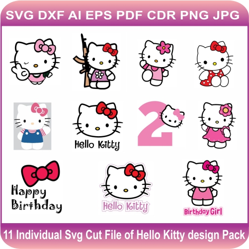 hello kitty Design Svg Cut