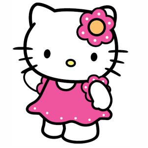 Hello Kitty Girl svg