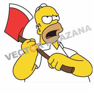 Homer Simpson Logos Vector
