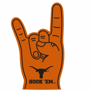 Hook Em Horns Sign Vector